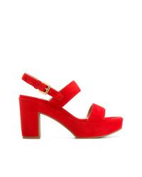 Sandalias de tacón de ante rojas de L'Autre Chose