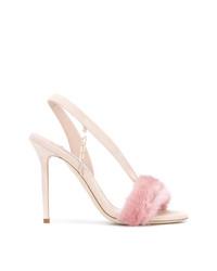 Sandalias de tacón de ante rosadas de Olgana