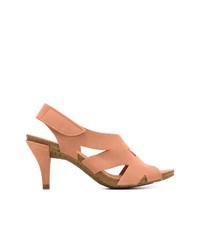 Sandalias de tacón de ante rosadas de Pedro Garcia