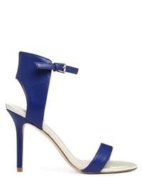 Sandalias de tacón de cuero azul marino de Aldo