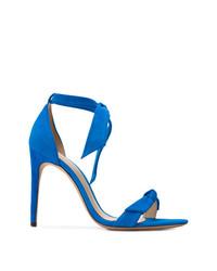 Sandalias de tacón de cuero azules de Alexandre Birman