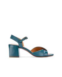 Sandalias de tacón de cuero azules de Chie Mihara
