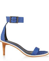 Sandalias de tacón de cuero azules de Tibi