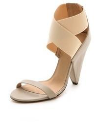 Sandalias de Tacón de Cuero Beige de IRO