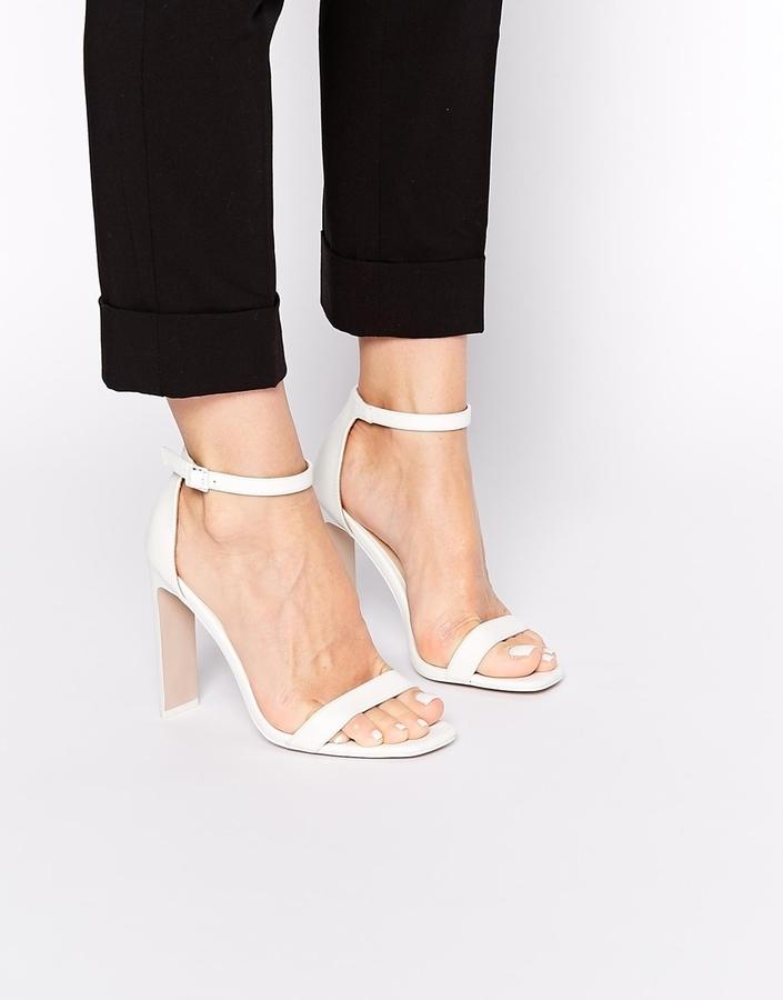 sandalias blancas tacon
