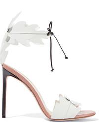 Sandalias de tacón de cuero blancas de Francesco Russo