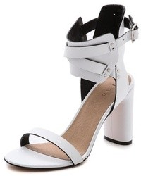 Sandalias de tacón de cuero blancas de IRO