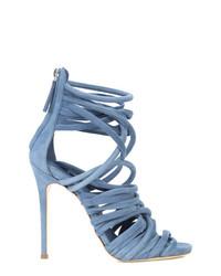Sandalias de tacón de cuero celestes de Giuseppe Zanotti Design