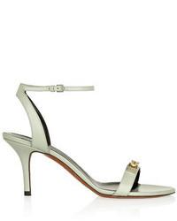 Sandalias de tacón de cuero con adornos grises de Proenza Schouler
