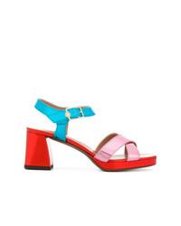 Sandalias de tacón de cuero en multicolor de L'Autre Chose