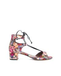 Sandalias de tacón de cuero en multicolor de Tabitha Simmons