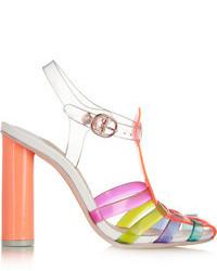 Sandalias de tacón de cuero en multicolor de Webster