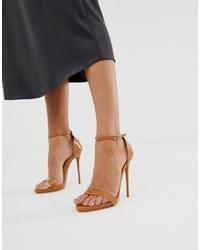 Sandalias de tacón de cuero marrón claro de SIMMI Shoes
