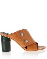 Sandalias de tacón de cuero marrónes de Acne Studios