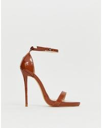Sandalias de tacón de cuero marrónes de SIMMI Shoes
