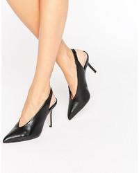 Sandalias de Tacón de Cuero Negras de Aldo