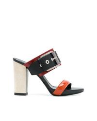 Sandalias de tacón de cuero negras de Barbara Bui
