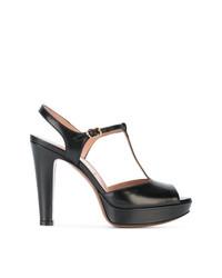 Sandalias de Tacón de Cuero Negras de L'Autre Chose