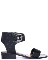 Sandalias de Tacón de Cuero Negras de Markus Lupfer