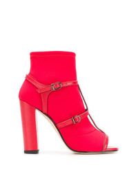 Sandalias de tacón de cuero rojas de Marc Ellis