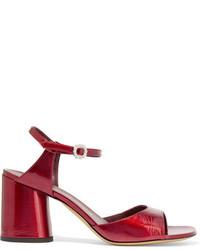 Sandalias de tacón de cuero rojas de Marc Jacobs