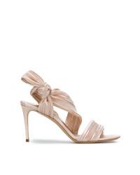 Sandalias de tacón de cuero rosadas de Casadei