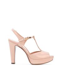 Sandalias de tacón de cuero rosadas de L'Autre Chose