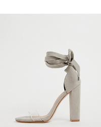 Sandalias de tacón de goma transparentes de ASOS DESIGN