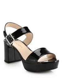 Sandalias de tacón gruesas negras