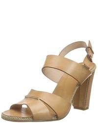 Sandalias de tacón marrón claro de Fred de la Bretoniere