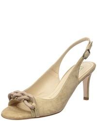 Sandalias de tacón marrón claro de Paco Gil