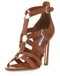 Sandalias de tacon marrones original 1637133