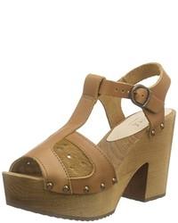 Sandalias de tacón marrónes de Sanita