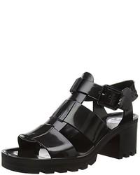 Sandalias de tacón negras de Juju Shoes