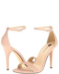 Sandalias de tacón rosadas