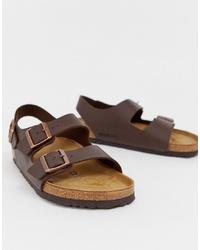 Sandalias en marrón oscuro de Birkenstock