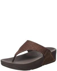 Sandalias en marrón oscuro de FitFlop