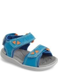 Sandalias en verde azulado