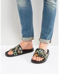 Sandalias estampadas negras de Asos