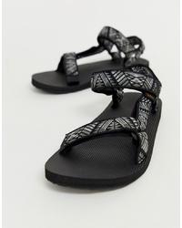Sandalias estampadas negras de Teva