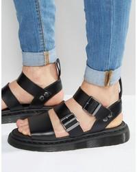 Sandalias Negras de Dr. Martens