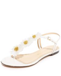 Sandalias planas blancas de Charlotte Olympia