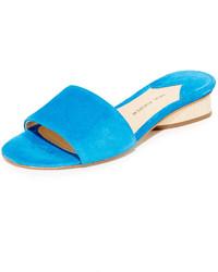 Sandalias planas de ante azules de Paul Andrew