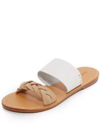 Sandalias planas de ante blancas de Soludos