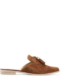 Sandalias planas de ante marrónes de Stuart Weitzman