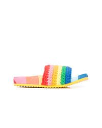Sandalias planas de crochet en multicolor de Mira Mikati