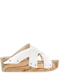 Sandalias planas de cuero blancas de Proenza Schouler