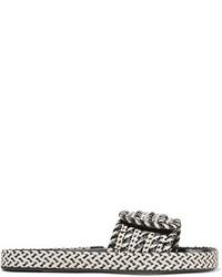 Sandalias planas de cuero en gris oscuro de Etoile Isabel Marant