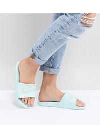 Sandalias planas de cuero grises de Nike