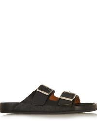 Sandalias planas de cuero negras de Etoile Isabel Marant